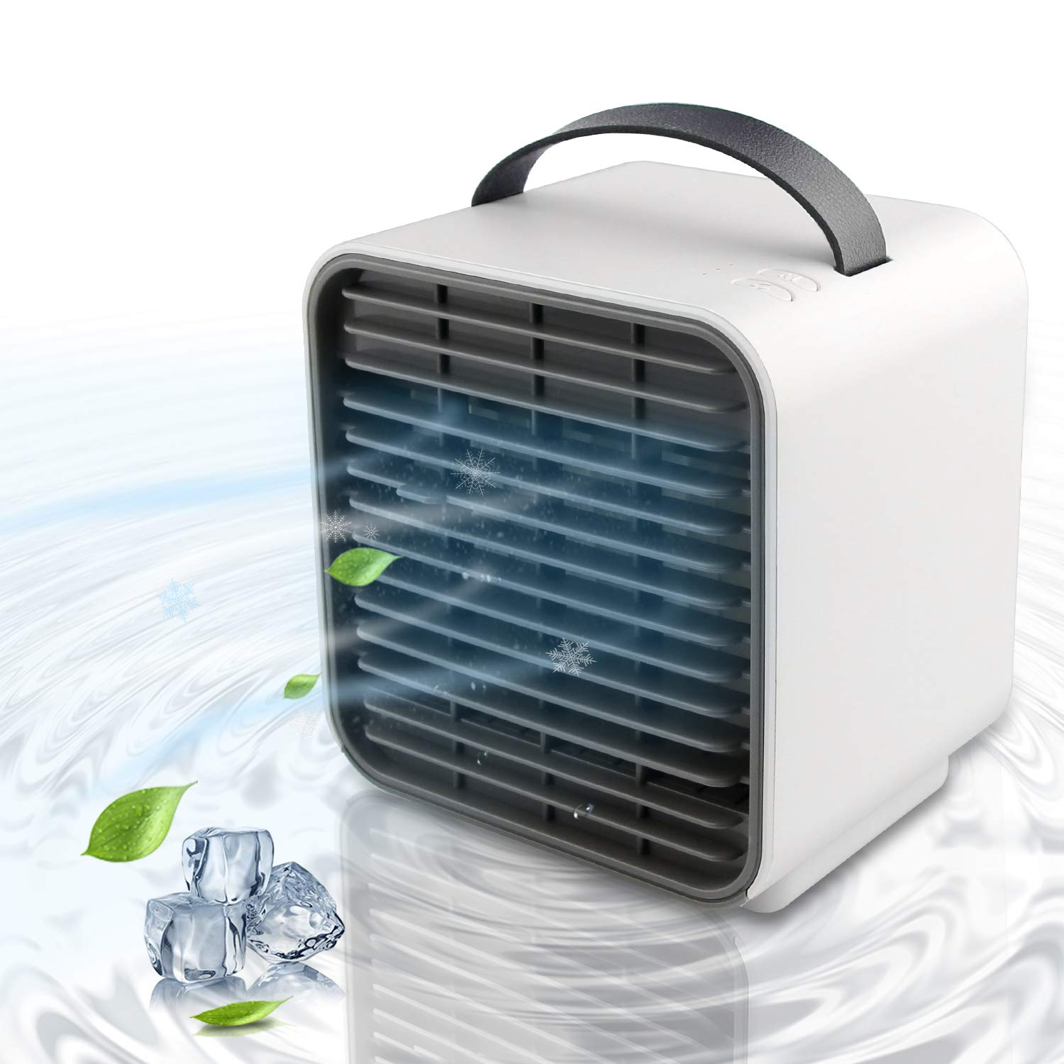 Bellaelegance Personal Space Cooler Portable Air Conditioner Cooling Fan Negative Ion Desktop Bedroom Fan Purifier Quiet Air Circulator Office Home Bedroom Fan with LED Light for Kids Adult (White)