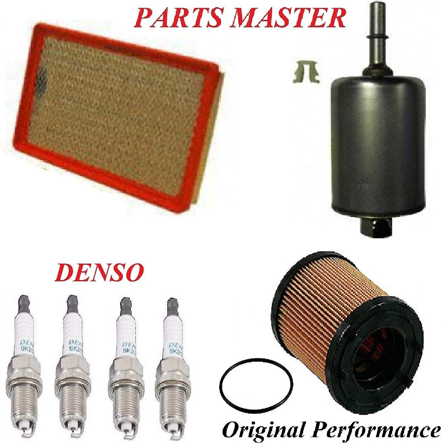 Amazon Com Tune Up Kit Air Oil Fuel Filters Spark Plug Fit Pontiac Grand Am L4 2 2l 2002 2005 Automotive