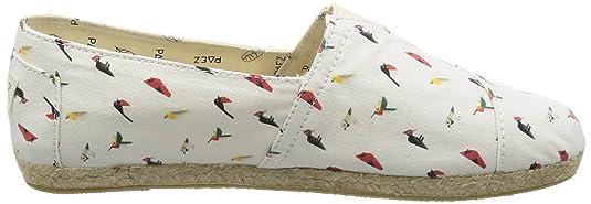 Damen Original Raw-Prints Espadrilles, Mehrfarbig (Multicolor Birds), 40 EU Paez