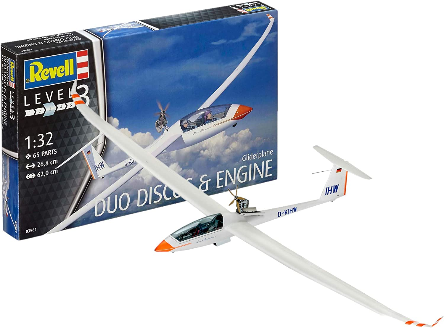 Revell 03961 Gliderplane Duo Discus and Engine Model Kit Revell/_03961