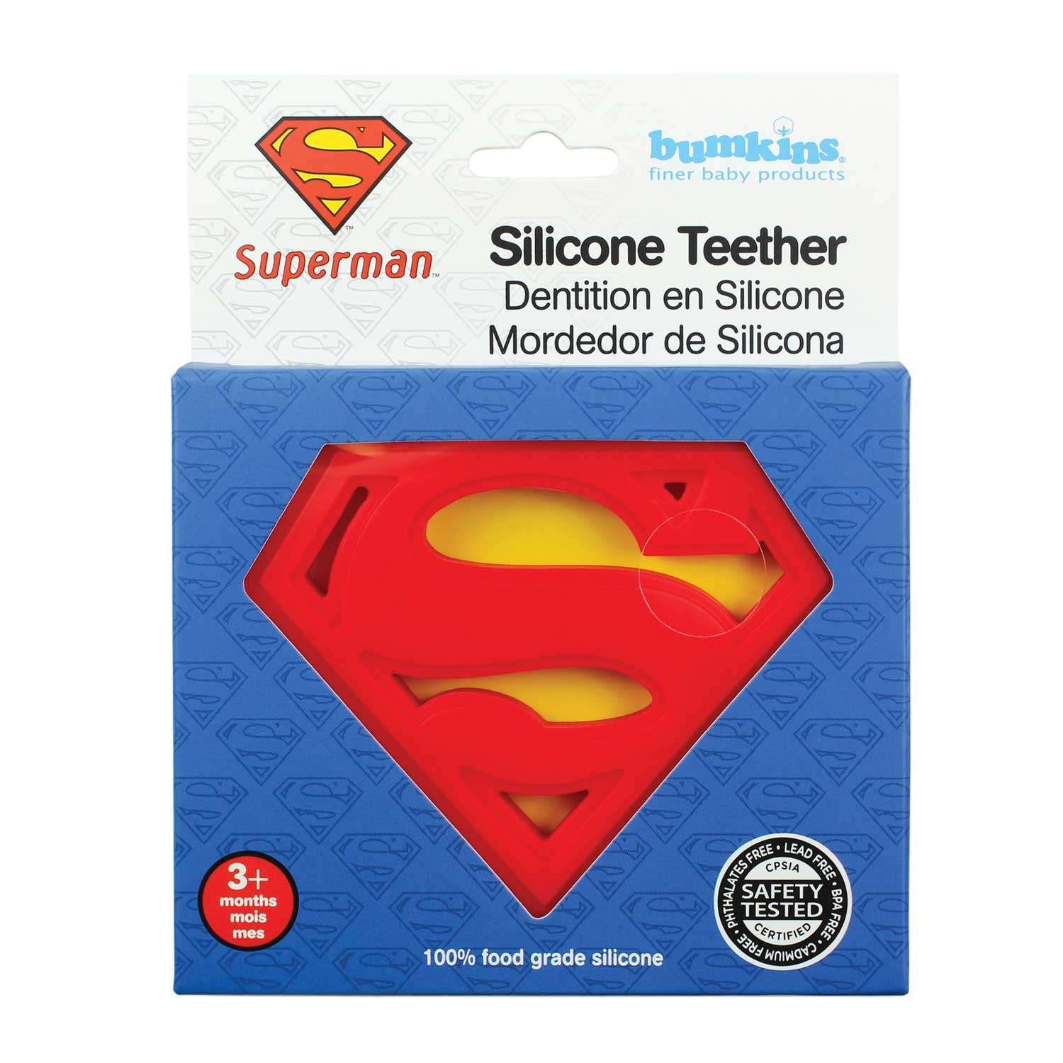 Bumkins Dc Comics Silicone Teether, Superman by Bumkins ...