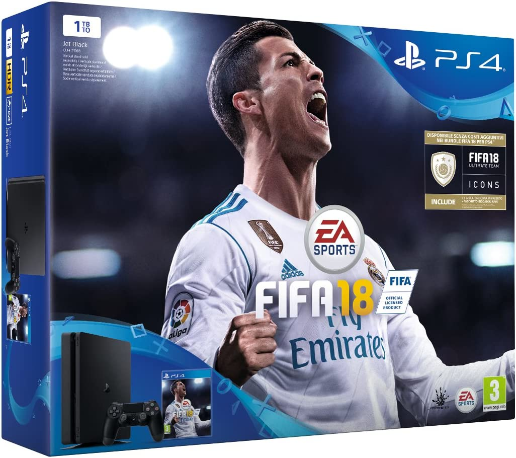 PlayStation 4 (PS4) - Consola de 1 TB + FIFA18 [Bundle ...