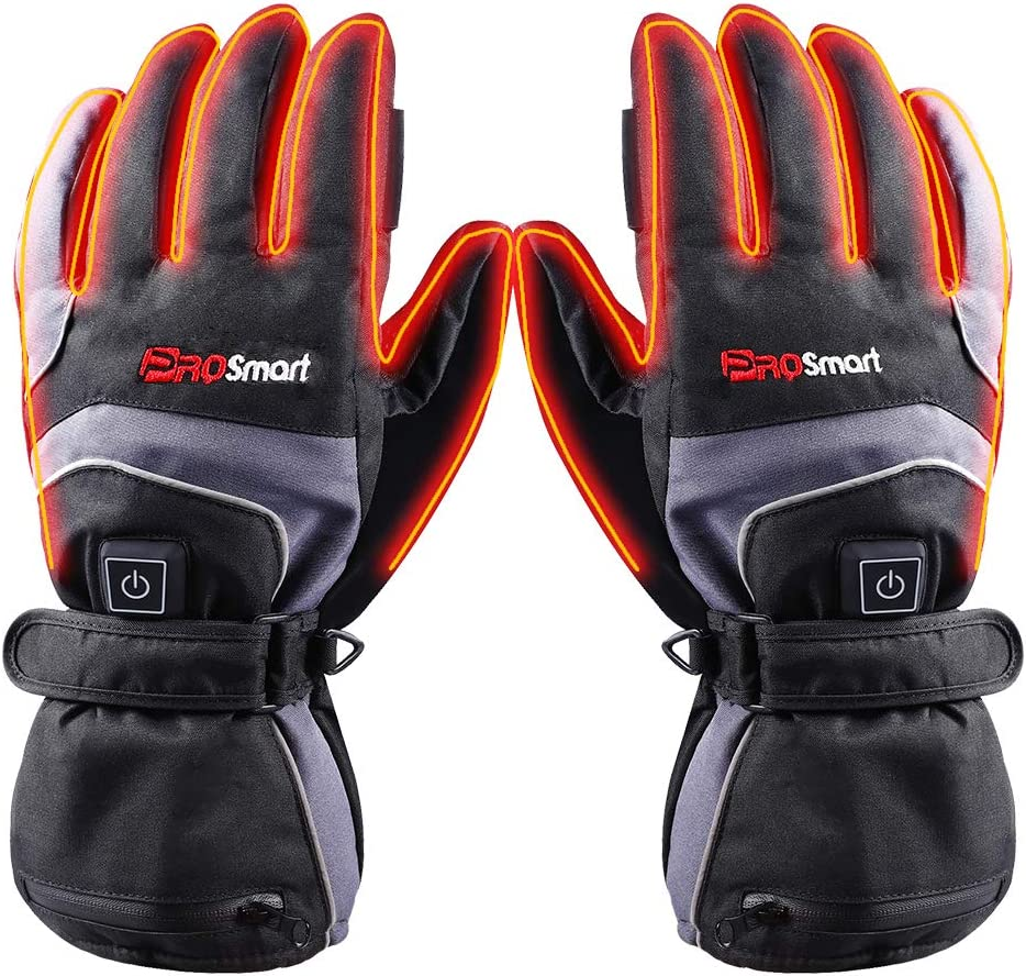 PROSmart Heated Gloves Rechargeable Electric Heating Gloves with 7.4v Battery (Unisex)