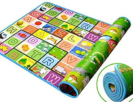 Kitchen Point Playmat Waterproof, Anti Skid, Double Sided Baby Crawling Floor Mat with Zip Bag to Carry for Kids (Large Size-120x180 cm)