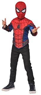 IMAGINE BY RUBIES Spider-Man Homecoming Boys Spider-Man Deluxe Muscle Chest Shirt and Mask Set Small G31936