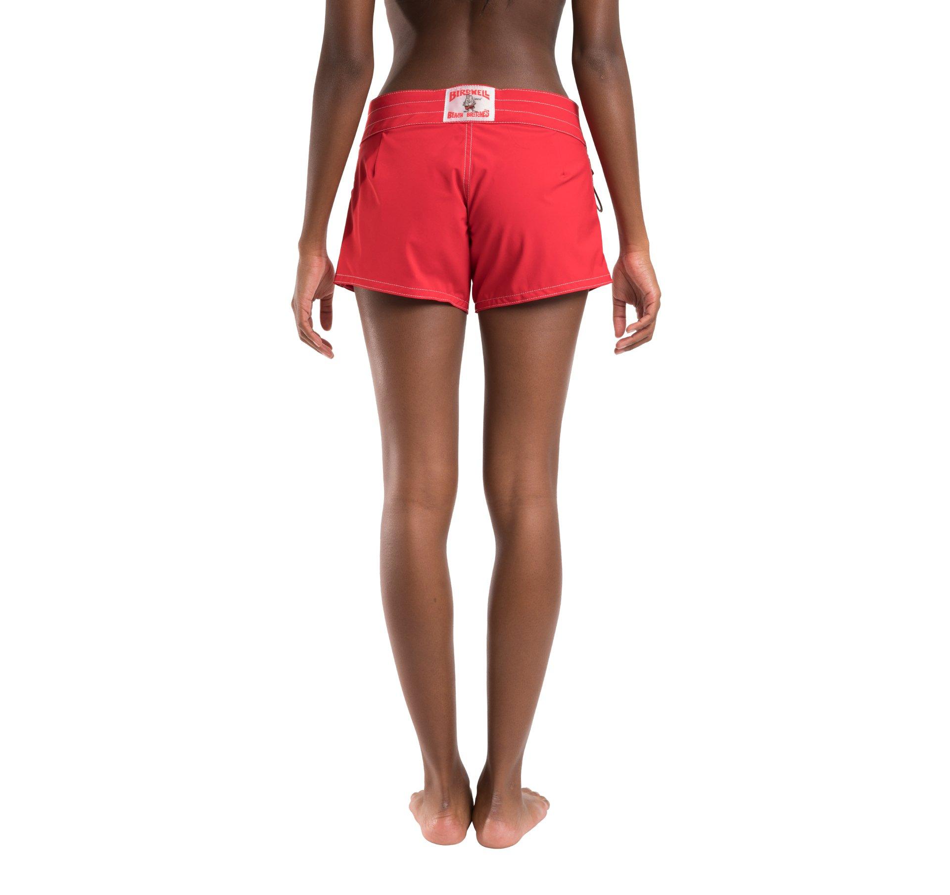 Birdwell Women's Stretch Board Shorts - Regular Rise (Red, 2) by Birdwell Beach Britches (Image #8)