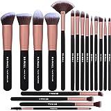 BS-MALL Makeup Brushes Premium Makeup Brush Set Synthetic Kabuki Cosmetics Foundation Blending Blush Eyeliner Face Powder Brush Makeup Brush Kit (Rose Gold)