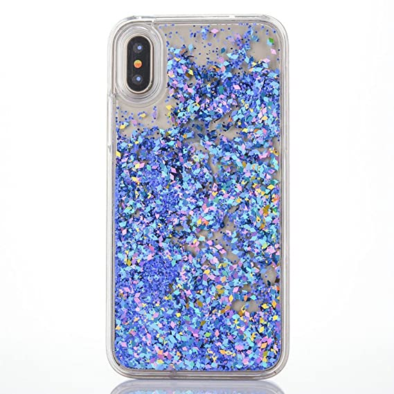 new arrival 160b5 91059 iPhone X Case, iPhone X Glitter Case, MACBOU Fashion Bling Creative Design  Flowing Liquid Case Floating Bling Diamond Sparkle Pattern Case Cover for  ...