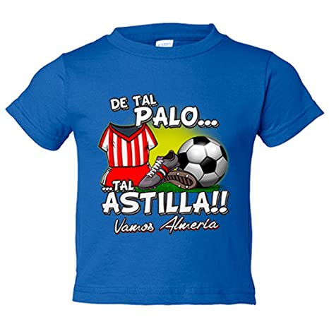 Camiseta niño De tal palo tal astilla Almería fútbol - Azul Royal, 3-4