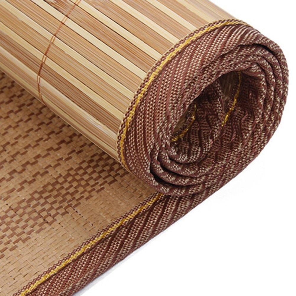 WENZHE Bambus Matratzen Sommer-Schlafmatten Strohmatte Teppiche Einzelbett Schüler Schlafsaal Schlafzimmer Multifunktion, 0.8/0.9/1.0m (Farbe : B, größe : 0.8×1.9m)