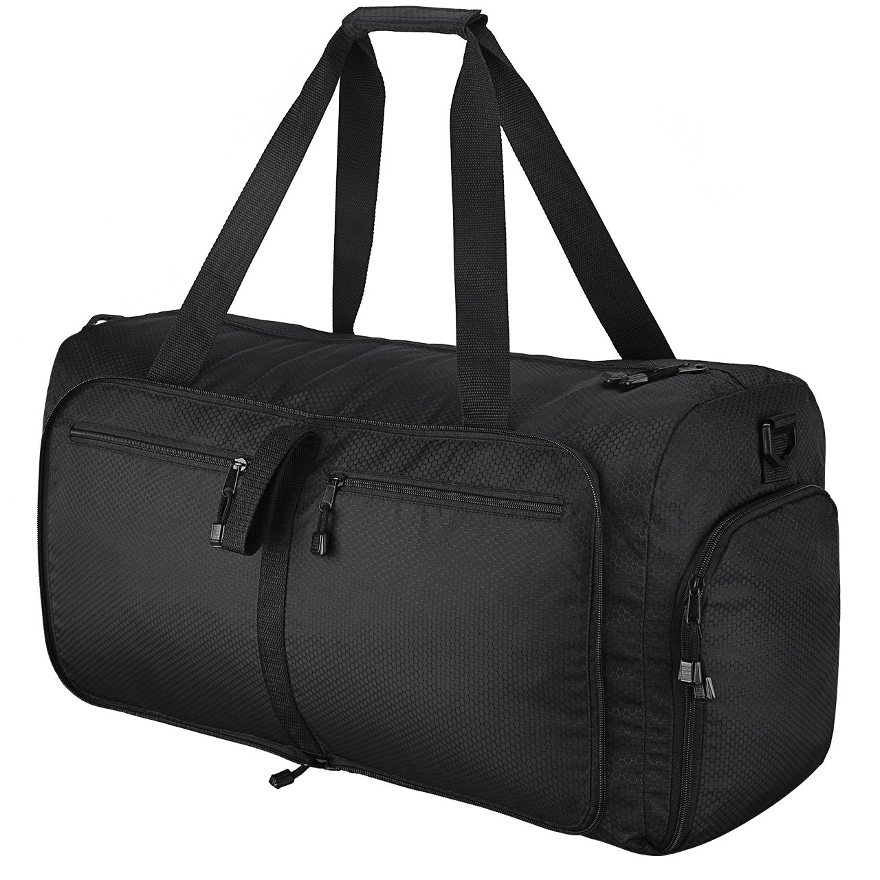 Omorc Reisetasche, Wasserdicht, 60L, Sporttasche, ausziehbar und faltbar, mit zwei abnehmbaren Schulterriemen 2017120401FR