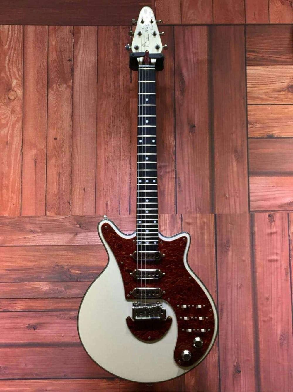 SYXMSM Gremio Brian BM01 Brian May Guitarra Negro Pickguard 3 Pastillas del Puente del Trémolo Hace 24 Trastes Personalizada (Size : 39 Inches)