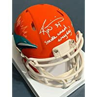 "$147 » Ricky Williams Miami Dolphins""smoke Weed Everyday"" Amp Signed Mini Helmet - JSA Certified - Autographed NFL Mini Helmets"