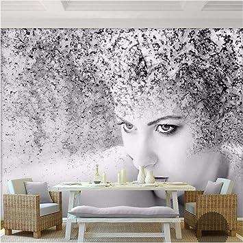 Qwerlp Adesivo Murale Moda Moderna Nero Bianco Astratto Arte ...