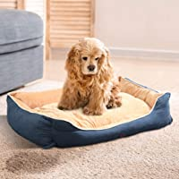 PaWz Pet Bed Mattress Dog Cat Pad Mat Puppy Cushion Soft Warm Washable M Blue Blue M