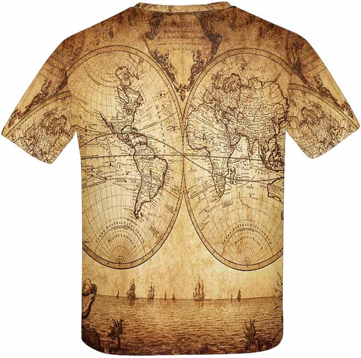 XS-XL INTERESTPRINT Kids T-Shirts Vintage Map of The World