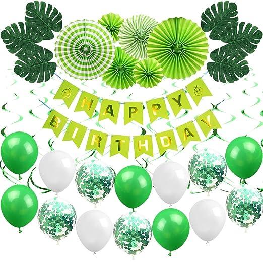 Decoraciones para fiestas de cumpleaños verdes para la ...
