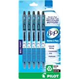 Pilot B2P - Bottle to Pen - Retractable Ball Point Pens Made from Recycled Bottles, 5 Pen Pack, Medium Point, Black (32812)