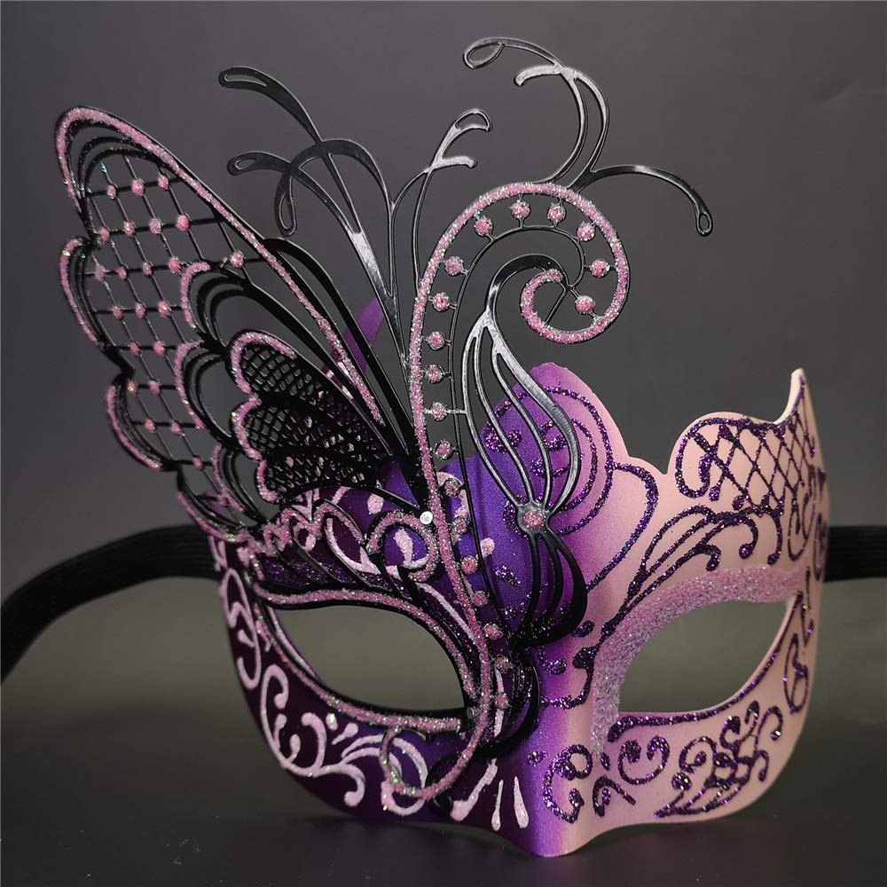 Pink//Purple Flying Butterfly Venetian Women Mask For Masquerade//Party