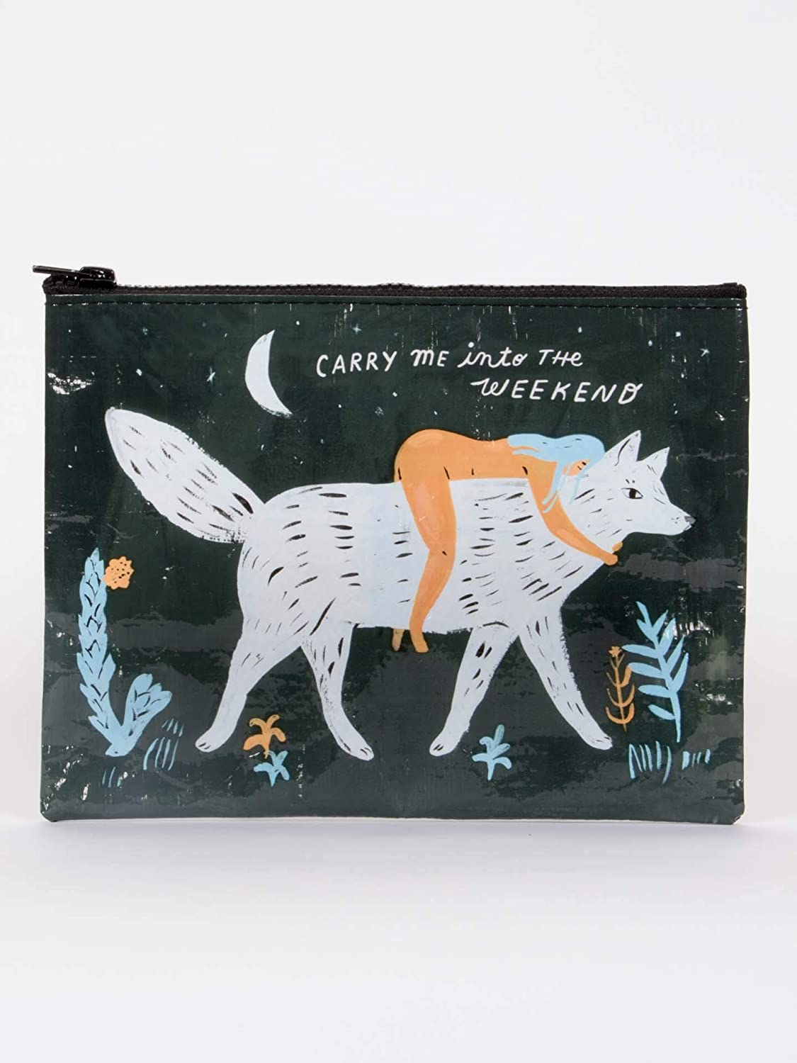 People I Want to Meet: 1 7.25 by 9.5 Inches Made Out of 95/% Recycled Materials Dogs Blue Q Zipper Pouch