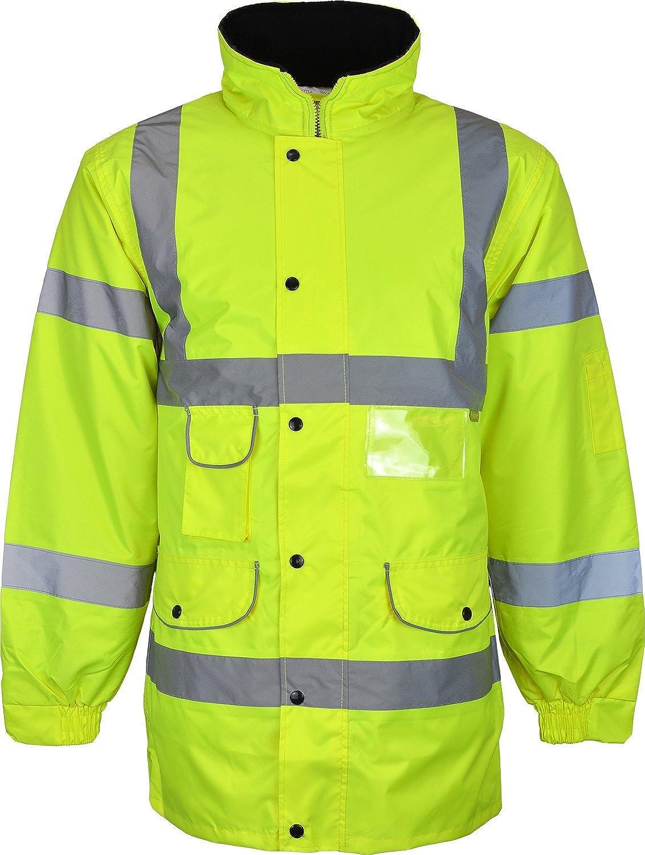 Kentex Online Men's High Visibility Long Padded Winter Warm Jackets KC59 M Hi Vis Long JKT YELLOW S-L-$P
