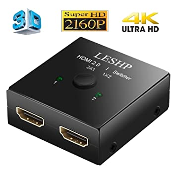 leshp 4 K HDMI divisor de 1 x 2 HDMI Splitter 1 entrada 2 salidas ...