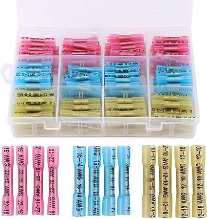 1000PCS Blue Wire Butt crimp Connectors Insulate Vinyl 16-14 Gauge AWG Terminals
