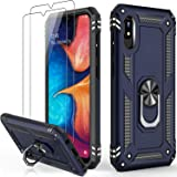 IKAZZ Galaxy A10e Case with Screen Protector,Military Grade Shockproof Cover Pass 16ft Drop Test with Magnetic Kickstand Car