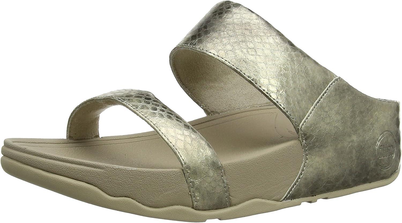 Lulu Metallic Snake Slide Sandal