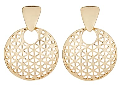 Clip On Earrings - Gold Plated With Linked Hoops - Kadisha G by Bello London a5pW3