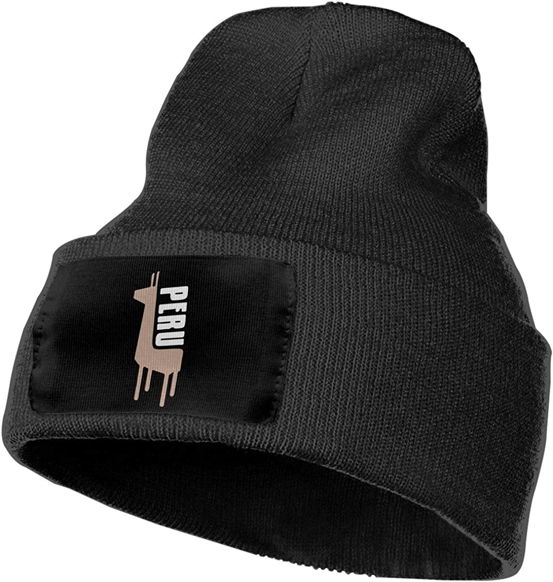 COLLJL-8 Unisex Retro Peruvian Peru Llama Outdoor Fashion Knit Beanies Hat Soft Winter Knit Caps