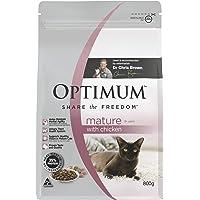 OPTIMUM Mature 8+ Years with Chicken Dry Cat Food 800g Bag 6 Pack
