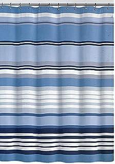 DKNY Urban Lines White Denim Fabric Shower Curtain