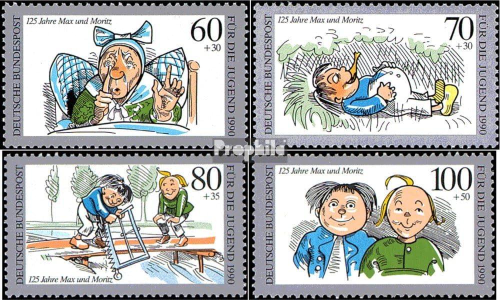 1990 Jugendmarken 1455-1458 Prophila Collection BRD BR.Deutschland kompl.Ausgabe Comics Briefmarken f/ür Sammler