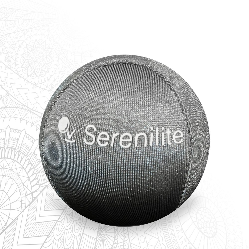 Serenilite Hand Therapy Stress Ball - Optimal Stress Relief - Great for Hand Exercises and Strengthening (Titanium)