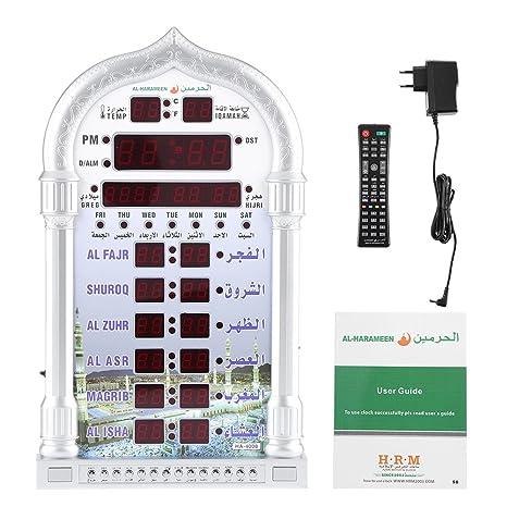Reloj de Pared de Musulmán Reloj de Pared de Alarma Automático Islámico Relo de Oración de