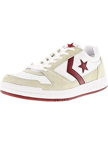 e9a103e2d98a99 Converse Men s Point Man Ox White Red Ankle-High Fabric Fashion Sneaker - 8M