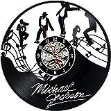 Gullei.com Vinyl Record Clock Gift for Michael Jackson Fans