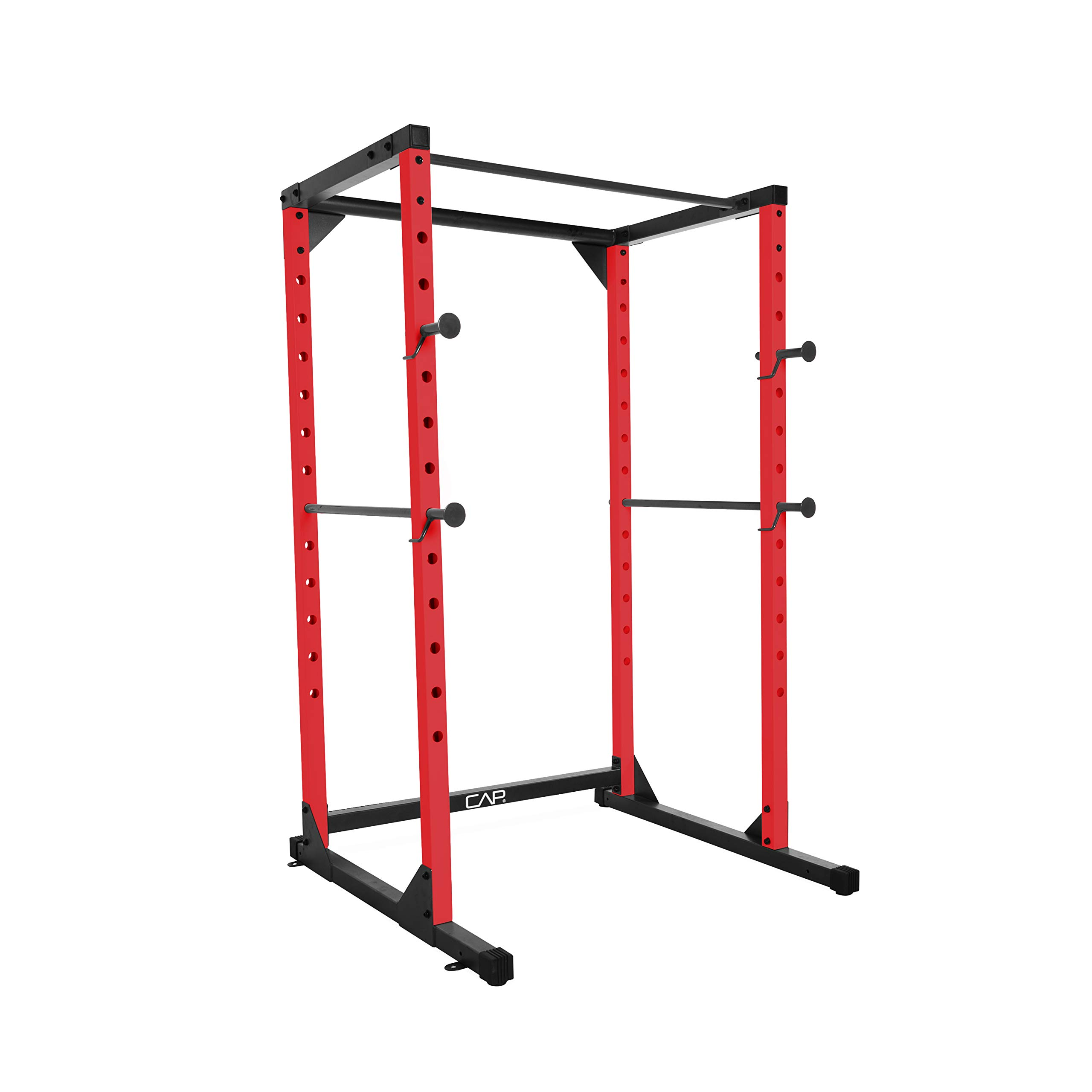 CAP Barbell Full Cage Power Rack, 6-Foot, Red