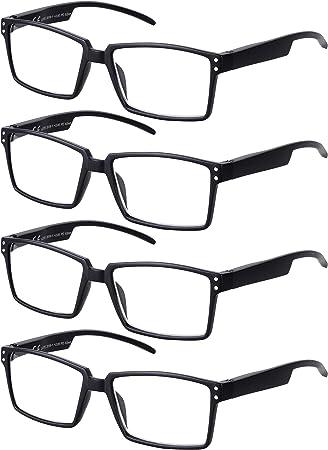 TBOC Gafas de Lectura Presbicia Vista Cansada – [Pack 4 Unidades ...