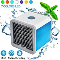 PLZ Air Conditioner Portable Air Conditioner Personal Space Air Cooler Mini Portable Space Air Conditioner, Portable Space Cooler for 45 Square Feet, Desk Table Fan for Office Home Outdoor
