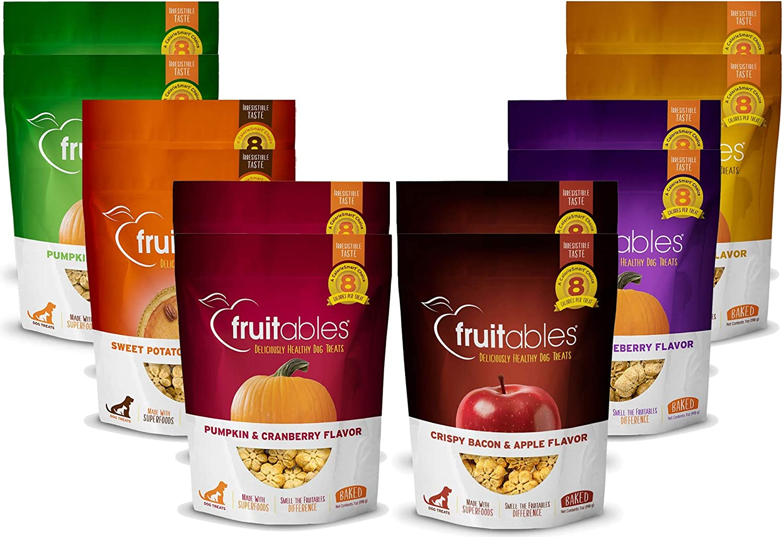 Fruitables 7 Ounce All Natural Baked Crunchy Dog Treats Variety Packs