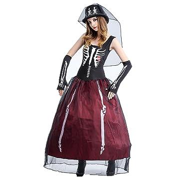 Jysport Halloween Kostum Damen Cosplay Fasching Kleid Zombie Leiche