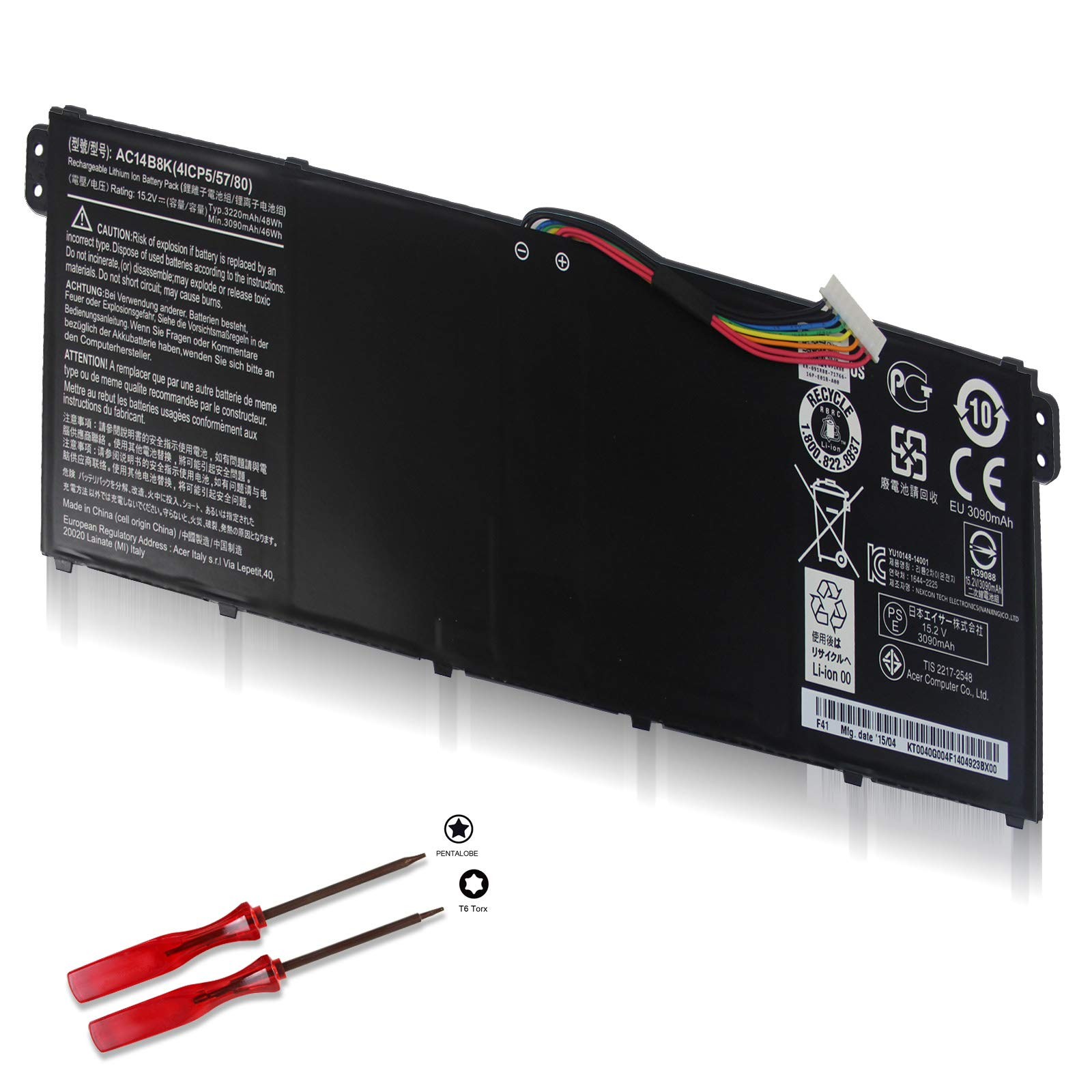 Bateria AC14B8K KT.0040G.004 Acer Chromebook 11 13 CB3-111 C
