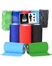 Bodhi & Digby Vet Wrap Cohesive Bandages - 10cm Wide Self Adhesive Bandages. 5 Rolls in 5 Colours. Perfect Self Adherent Vet Wrap for Dogs or Vet Wrap for Horses. Self Adhesive Compression Bandages.