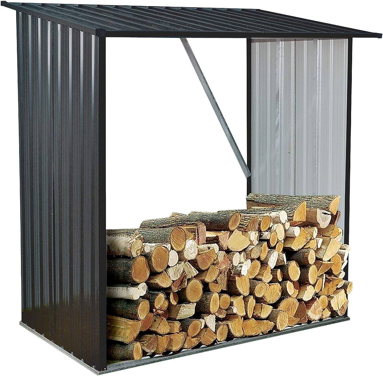 Hanover HANWDSHD-Gry soporta hasta 55 pies cúbicos Apilados de Acero galvanizado para Interiores y Exteriores, Color Gris: Amazon.es: Jardín
