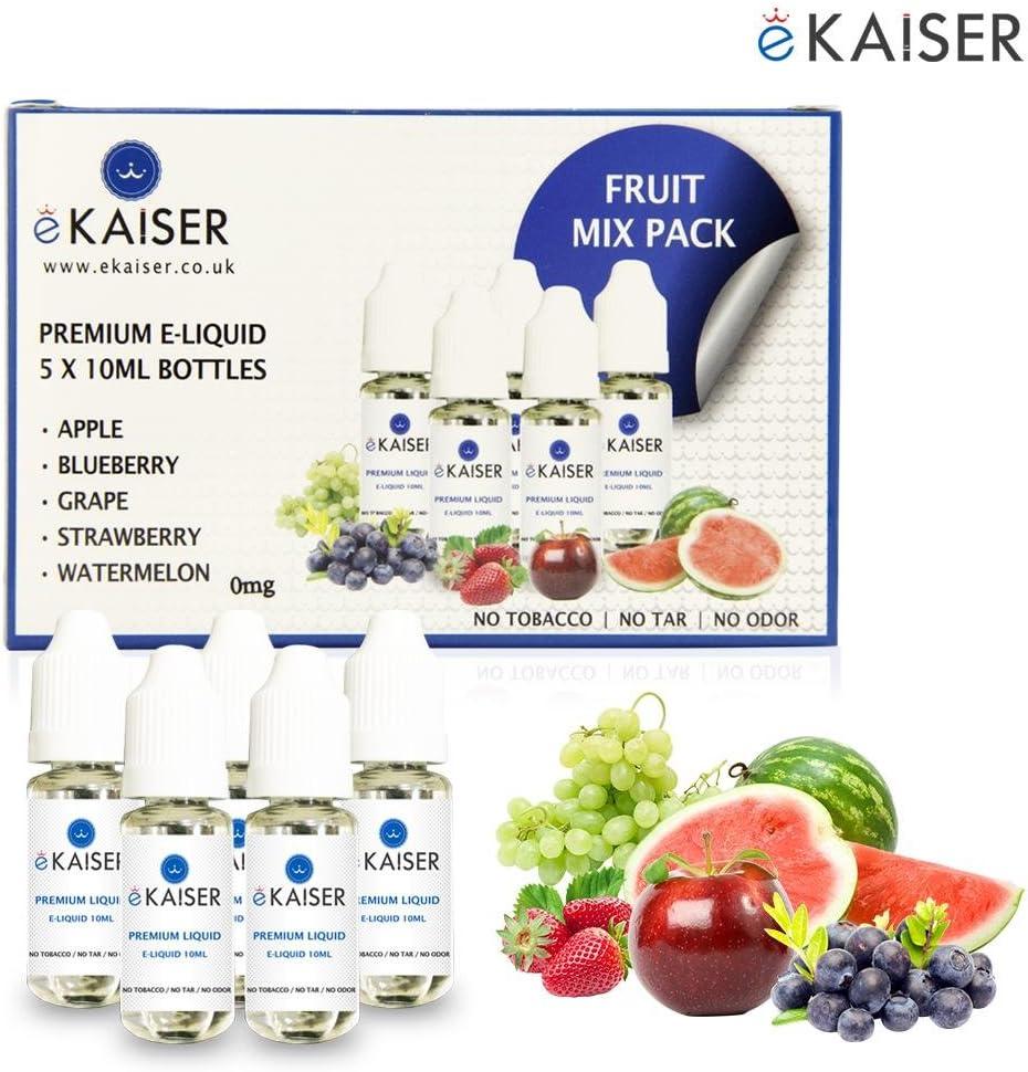 Ekaiser 5 e-líquidos de 10ml mezcla frutal | Manzana | Arándano ...