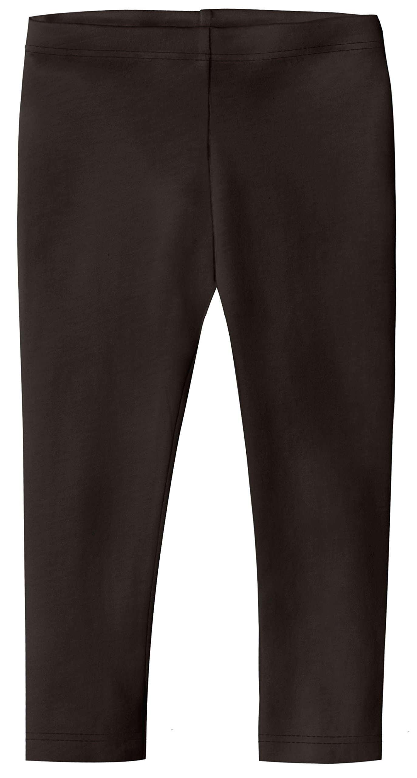 City Threads Big Girls' Cotton Cropped Capri Legging for Summer, Play and School, Chocolate, 2T