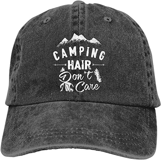 MANMESH HATT Camping Hair Dont Care Unisex Adult Adjustable Trucker Dad Hats