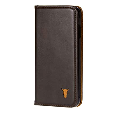 innovative design efd1c 2236a TORRO Genuine Leather Stand Case Compatible With Apple iPhone 8 And iPhone  7 (Dark Brown)
